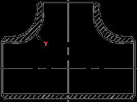 Размеры и стандарты тройников равнопроходных и переходных